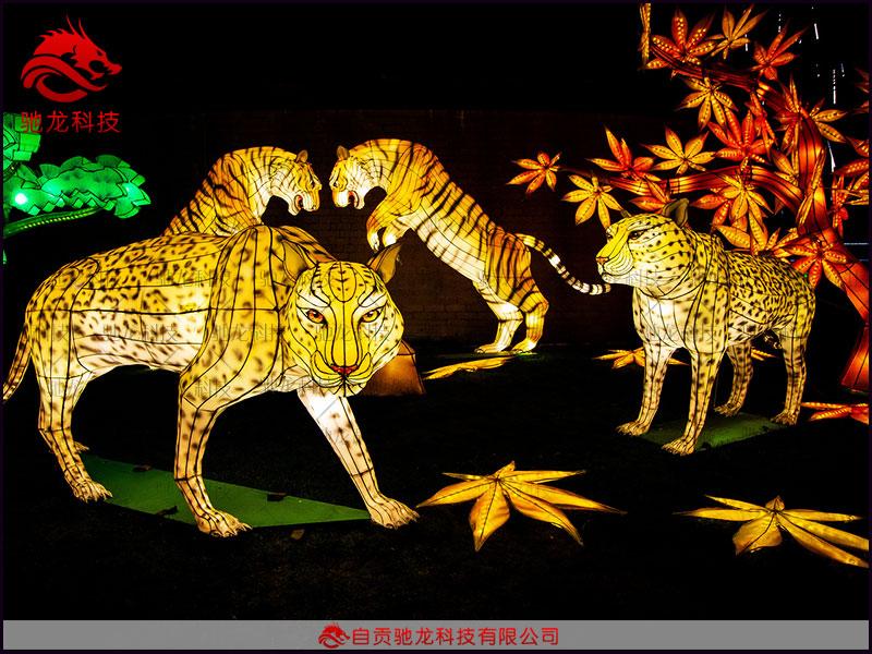 动物豹子造型花灯定制制作